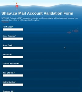 Shaw Email Scam